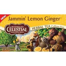 Celestial Seasonings Jammin' Lemon Ginger Herbal Tea (6x20 Bag)