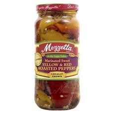 Mezzetta Roasted Marinated Yellow & Red Sweet Peppers (6x15oz)