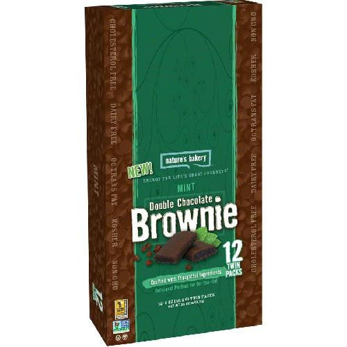 Nature's Bakery Mint Double Chocolate Brownie (12x2 Oz)