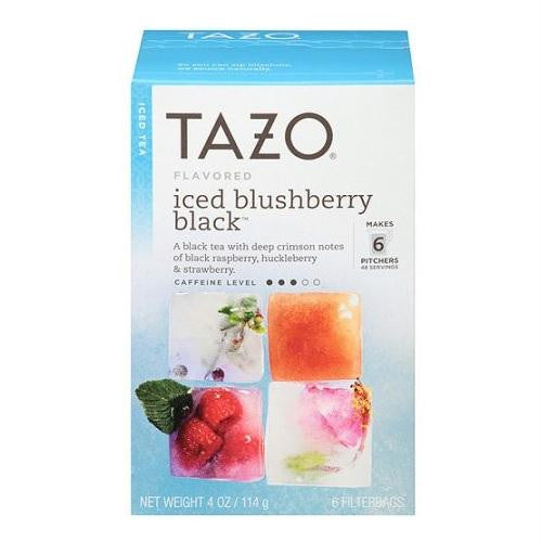 Tazo Herbal Iced Tea Black Blushberry (4x6 Bag )