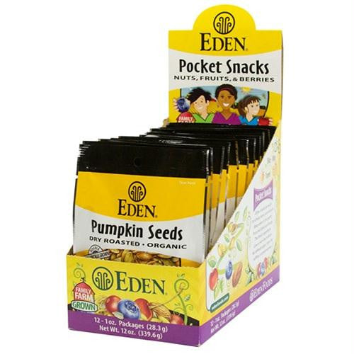 Eden Organic Pumpkin Seeds Dry Roasted And Salted (12x1 Oz)