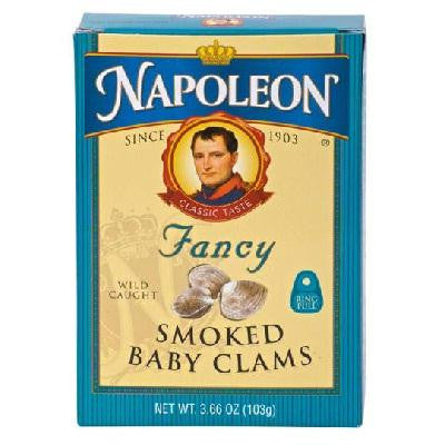 Napoleon Co. Baby Clams Smoked (1x3.66oz )