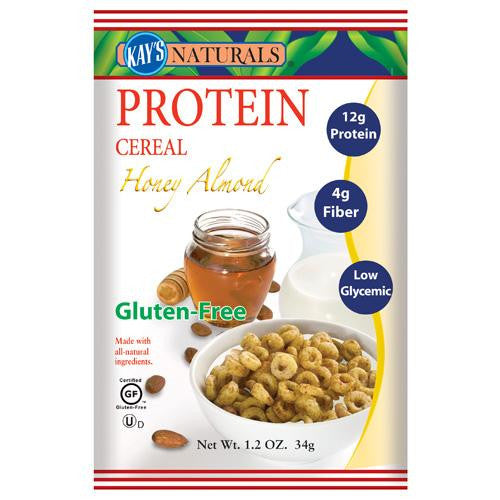 Kay's Naturals Protein Cereal Honey Almond 1.2 Oz (6 Pack)