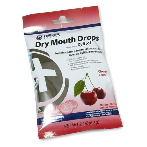 Hager Pharma Dry Mouth Drops Cherry 2 Oz