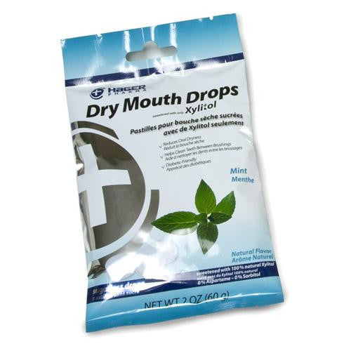 Hager Pharma Dry Mouth Drops Mint 2 Oz