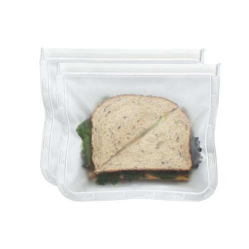 Blue Avocado (re) Zip Seal Lunch Bag Translucent (1x2 Count)