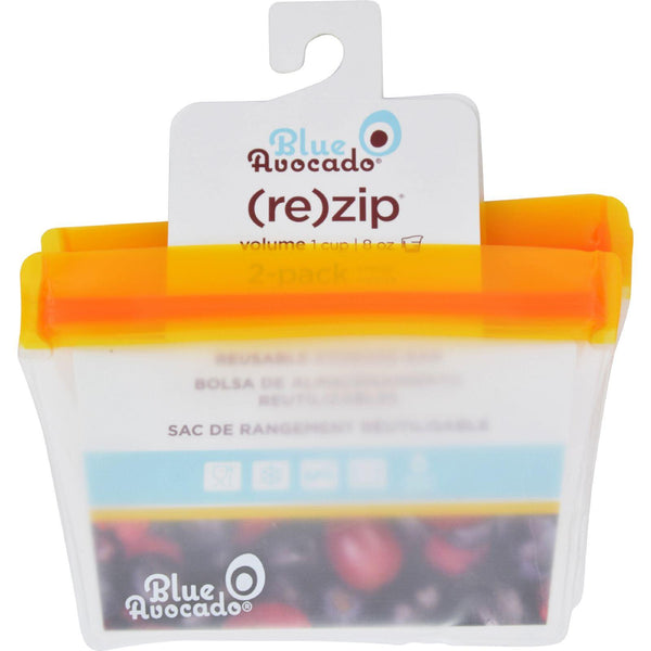 Blue Avocado Bag  Re Zip  1 Cup  Orange  2 Pack
