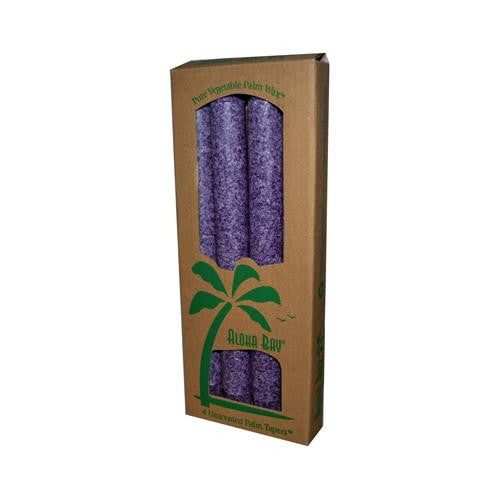 Aloha Bay Palm Tapers Violet (4 Candles)