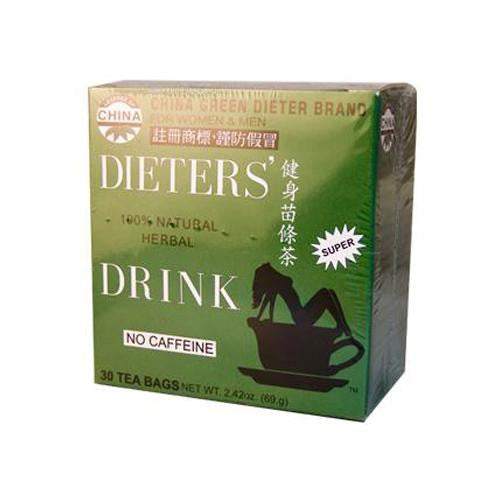 Uncle Lee's China Green Dieters Tea Caffeine Free (1x18 Tea Bags)