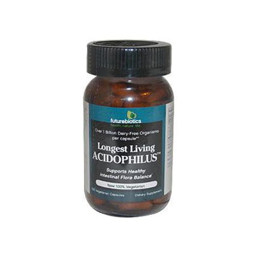 Futurebiotics Longest Living Acidophilus 1 Billion Cfus (100 Veg Capsules)
