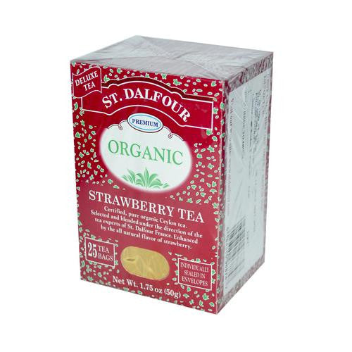 St Dalfour Organic Tea Strawberry (1x25 Tea Bags)