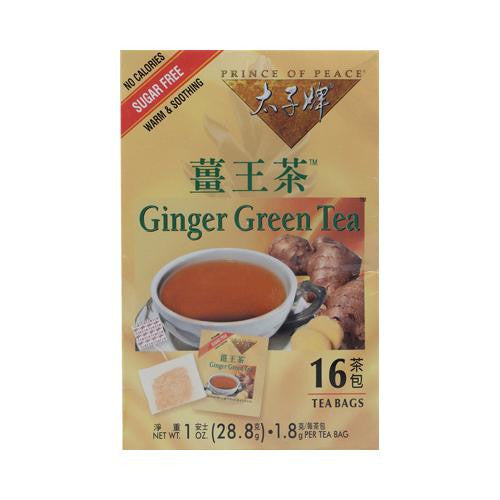 Prince Of Peace Ginger Green Tea (1x16 Tea Bags)