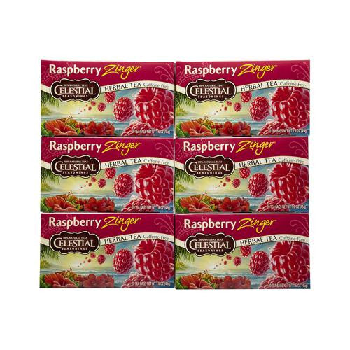 Celestial Seasonings Raspberry Zinger Herb Tea (1x20 Bag)