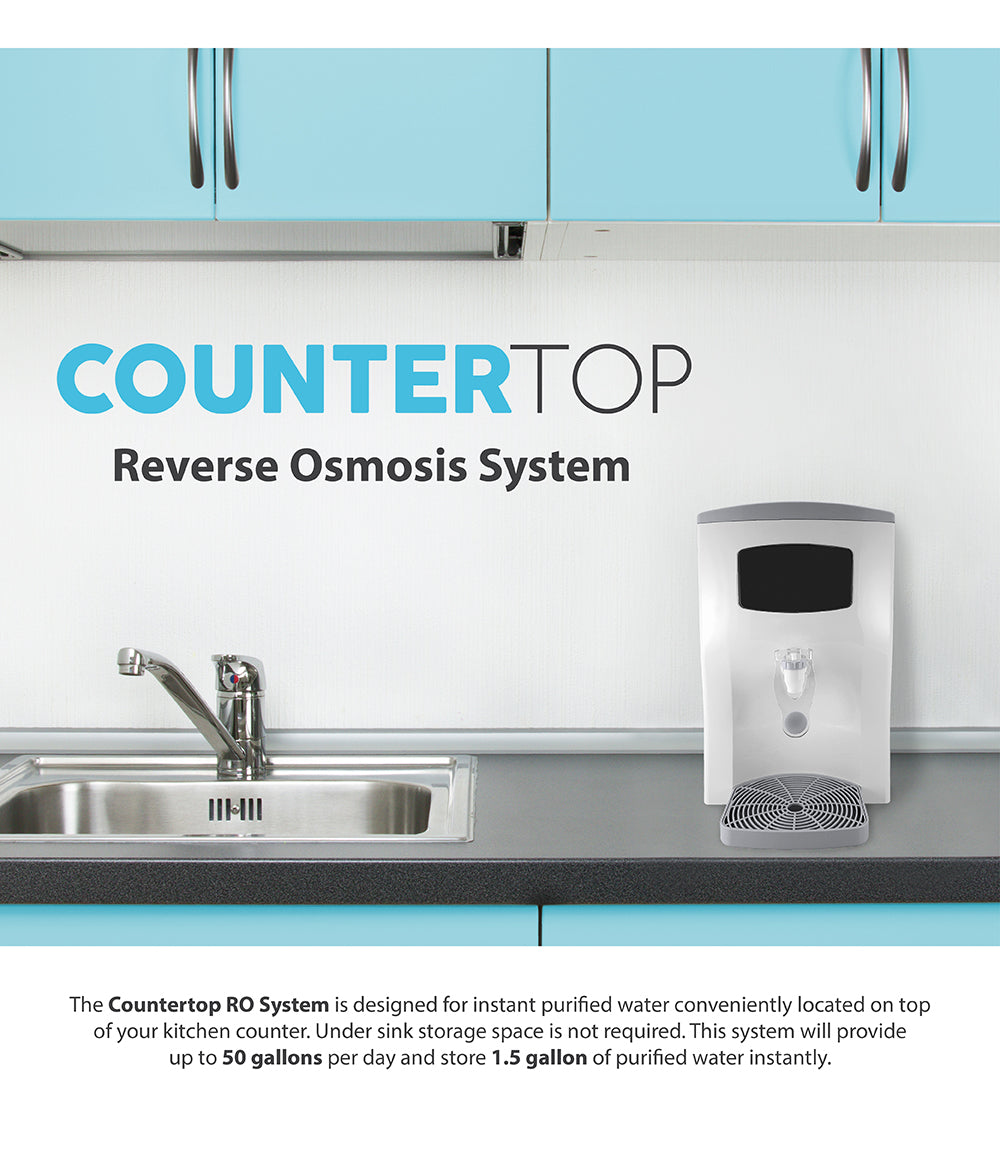 Countertop Reverse Osmosis : Counter Top Reverse Osmosis System Water Filter 4 Stage RO Filtration ...