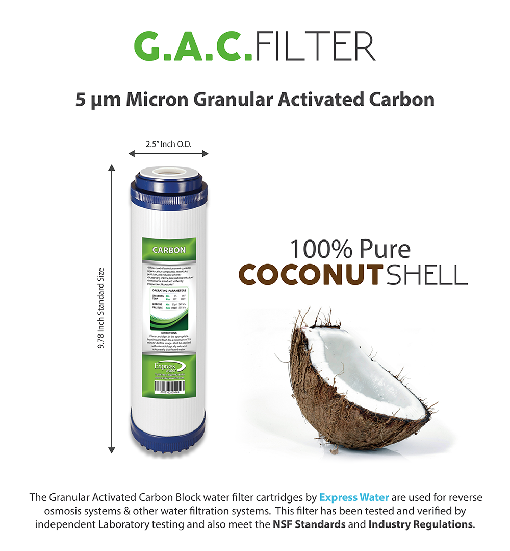 5 micron gac granular activated carbon water filter 10 - Activated charcoal swimming pool filter ...