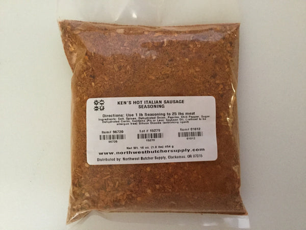 Ken's Hot Italian Sausage Seasoning (1 lb pack)