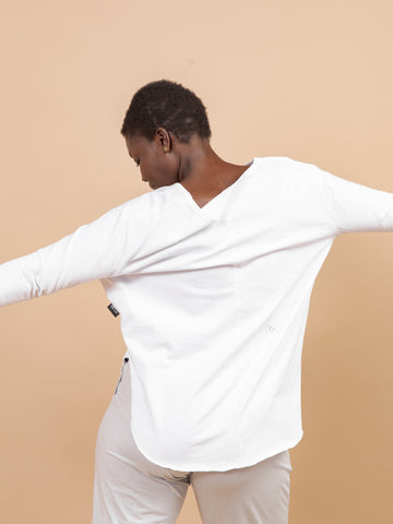 WHITE DUGGAN LONG SLEEVE