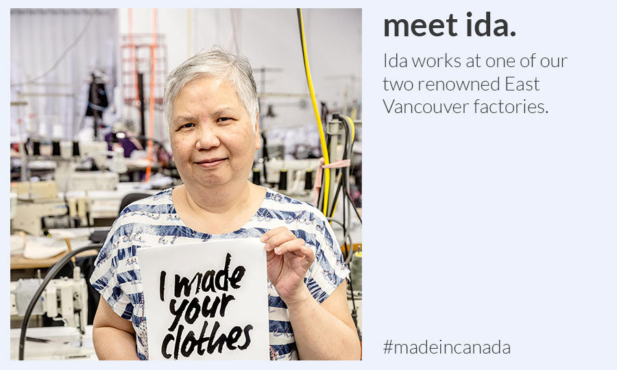Free Label Ethically made Canadian factories