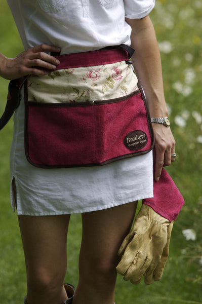 Floral Half Leather Apron