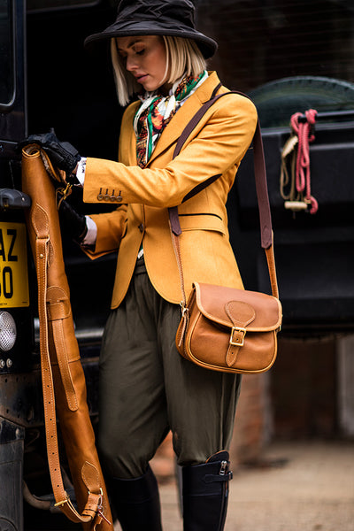 Heritage Tan Leather Gun Bag - Bradleys The Tannery