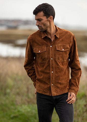 Men's Heritage Soft Suede Shirt Jacket