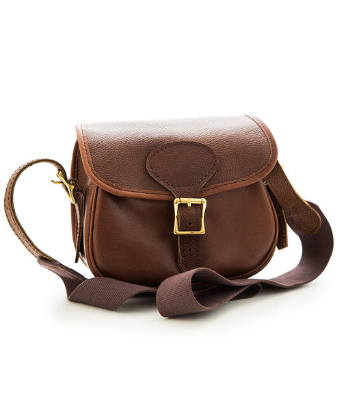 Chocolate Brown Leather cartridge bag