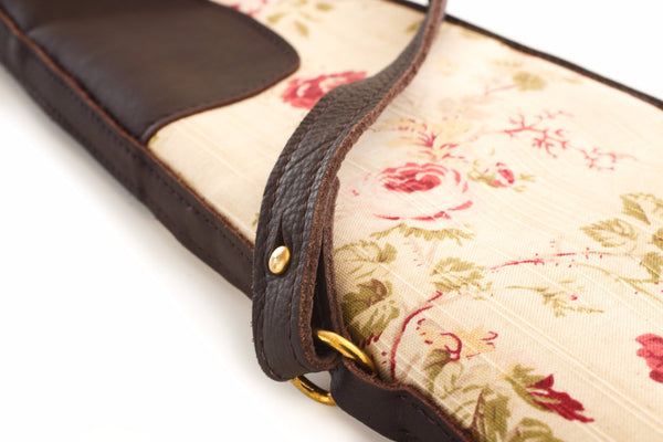 Floral Linen & Leather Gun Slip