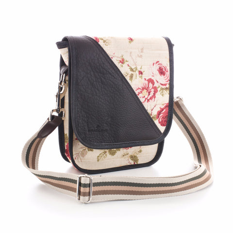 Handmade leather floral bag