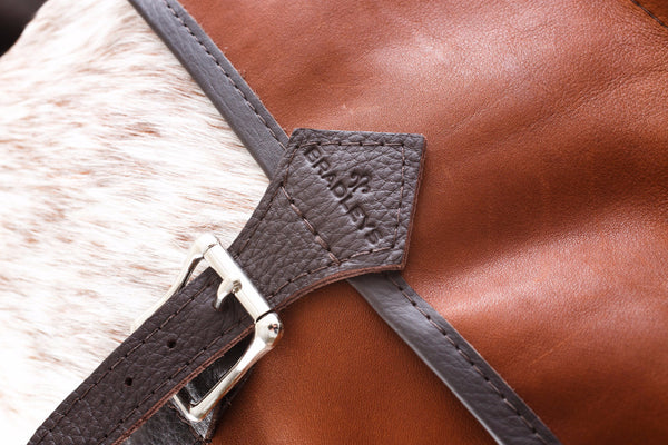 Heritage Hide cow Piece Bag