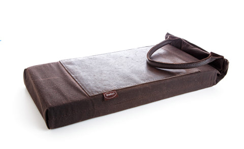 Leather garden kneeler
