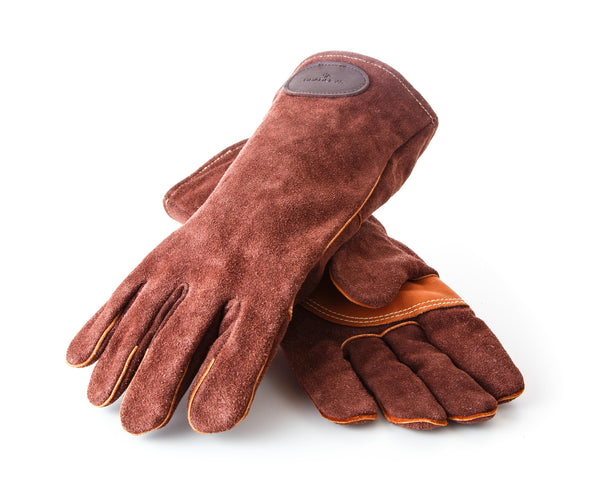 Leather heavy duty gloves
