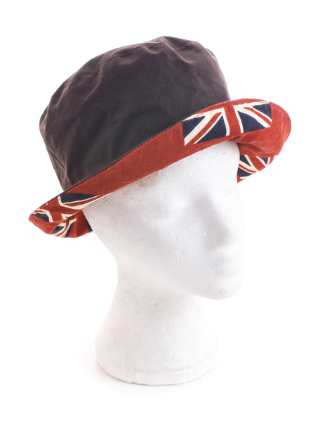 Waxed cotton british hat