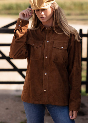 Women's Heritage Soft Suede Shirt Jacket