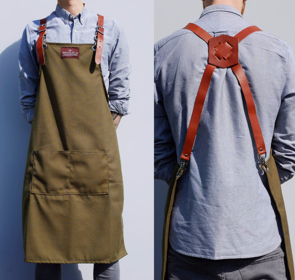 Khaki and Leather Apron