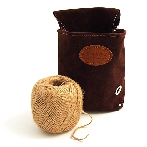 Leather garden string pouch