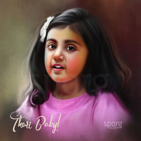 Kids Portait Painting