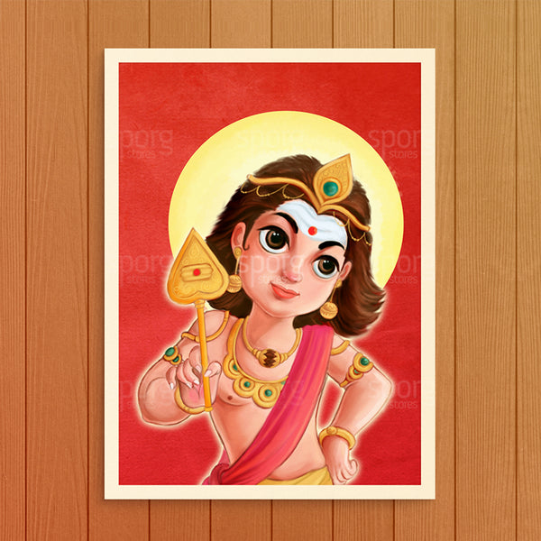 Little Muruga Art Print Poster