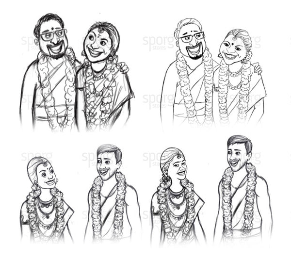wedding-illustration-sketch-india