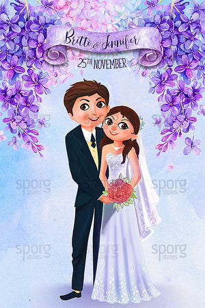 Illustrated Christian Wedding Invitation online