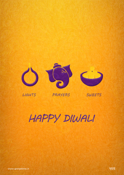 Happy Diwali light-ganesha-sweet Art Print India