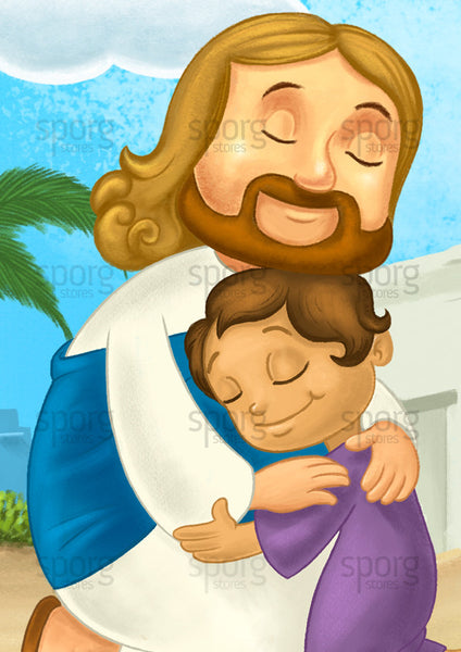 Little Jesus poster closeup by Sporg Stores