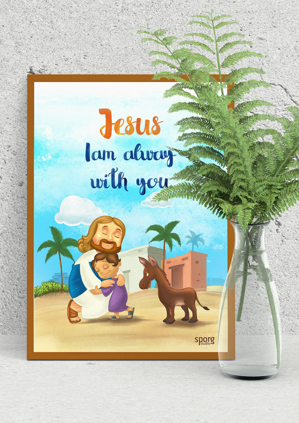 framed Little Jesus poster by Sporg Stores