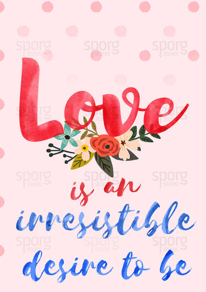 Rober Frost love quote art print poster closeup