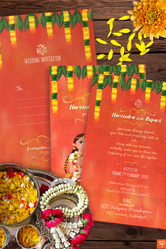 telugu-bhramin-wedding-invitation-envelope-invite card