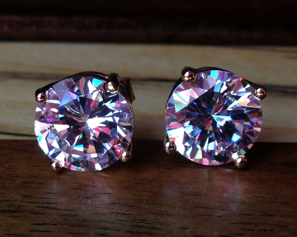 Zirconia Icy Stud Earrings