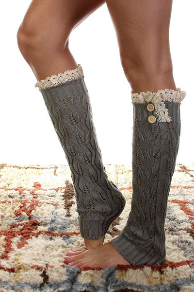 Lace Trimmed Boot Sock Leg Warmer