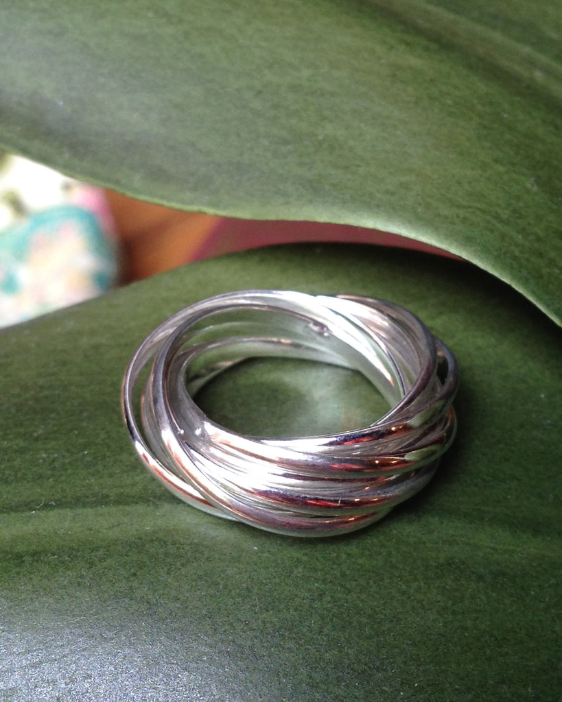 Sterling Silver Roll Ring