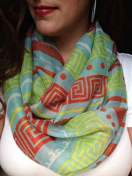 Greek Key Infinity Scarf
