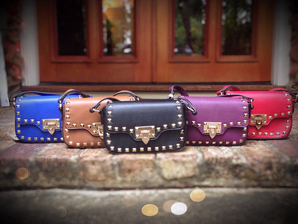 Pyramid Studded Crossbody Handbag