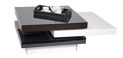 Velvet swivel coffee table - Shannen Living